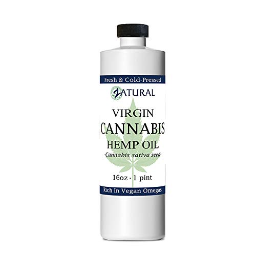 Zatural Hemp Oil (455,000mg - 16oz) 100% Pure Cold Pressed High Vegan Omegas 3 & 6 No Fillers or Additives Therapeutic Grade (16 Ounce)