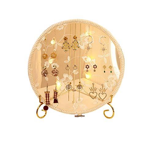 Espositore per orecchini creativi da scrivania oggetti di scatti in pizzo ricamati capannone per orecchini orecchini portagioie cremagliera per orecchini e orecchini, per appendere orecchini