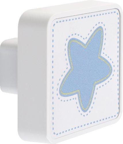 Dalber Bouton de Tiroir - Lune - Bleu- Etoile