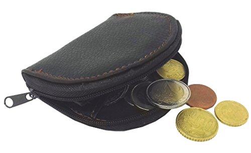 PORTAMONETE Uomo Donna ECO PELLE Portafoglio Piccolo con CERNIERA Zip TASCABILE - Porta Monete da Tasca Borsa Auto Viaggio