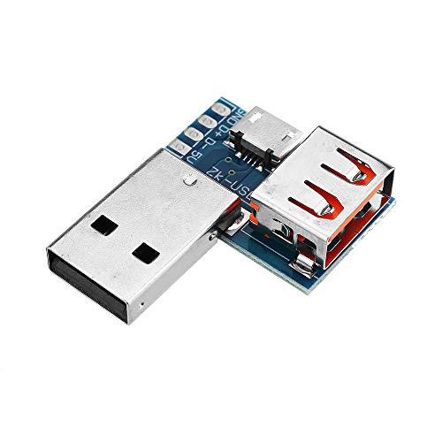 LTH-GD Relais 3 pièces USB Adaptateur Board Micro USB à USB Connecteur Femelle mâle à l'en-tête Femelle 4P 2.54mm commutateur de Relais WiFi