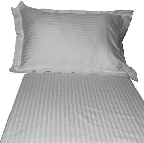 White Stripe King Duvet Set In Egyptian Cotton 800 Thread Count...