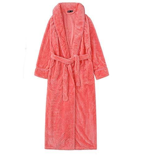 HUAHUA HOMEWEAR Las mujeres Albornoz felpa del invierno Novia del traje con la correa larga de las señoras del kimono Albornoz franela gruesa caliente la ropa de noche del vestido de Baño Homewear, Ro