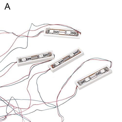 Milnnare, Universal USB ladrillo de carga/tipo redondo lámpara de luz LED decoración para juguete Lego
