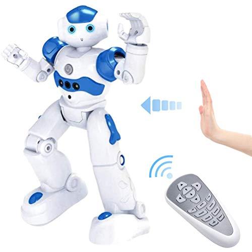 JAOCDOEN Robôs RC para crianças de 3 a 12 anos de idade, robô de controle remoto inteligente programável com sensor de gestos para o Natal