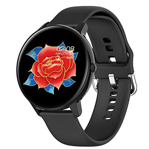 Phipuds Smartwatch, Reloj Inteligente Hombre Mujer Ip68 Impermeable con Pulsómetro Presión Arterial Monitor de Sueño, Pulsera Actividad Relojes Deportivos con Caloría Podómetro para Android iOS ,negro