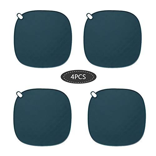 YEKKU 4pcs tapis antidérapant en silicone, sous-plateaux de tapis résistant à la chaleur pour plans de travail de cuisine Supports de pot en silicone Hot Pads isolation tapis