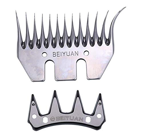 Kit de cuchillas y peines 83 mm curvo para Esquilar Ovejas de la marca Beiyuan universal compatible con todas las esquiladoras (1)