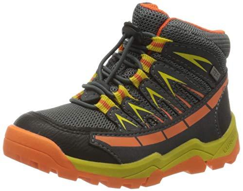 Lurchi Jungen Tristan-TEX Hohe Sneaker, Grau (Grey Orange 35), 31 EU