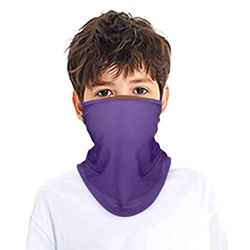 Kids Face Mask Bandana Ear Loops Balaclava Cooling Breathable Neck Gaiter Scarf Dust UV Protection for Boys Girls