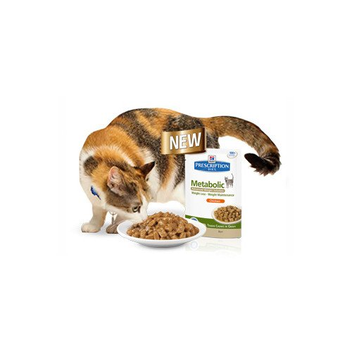 Hill´s Prescription Diet Feline Metabolic Advanced Weight Solution Huhn Frischebeutel 12 x 85 gr