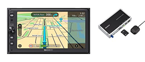 Sony XNV-KIT100 XAV-AX100 Premium 16,4 Zoll Touchscreen Navigation und Media Receiver mit Bluetooth (Apple CarPlay und Android Auto, TomTom Karten, Spotify, Google Maps und weitere)