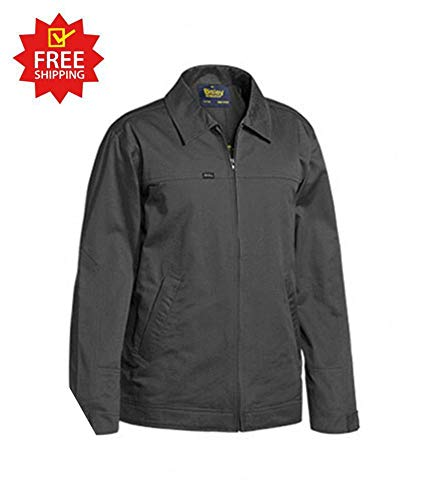 Bisley Cotton Drill Jacket with Liquid Repellent Finish (L)
