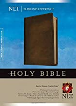 Slimline Reference Bible NLT (Red Letter, LeatherLike, Brown)