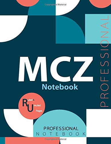 """MCZ Notebook, Examination Preparation Notebook, Study writing notebook, Office writing notebook, 140 pages, 8.5"""" x 11"""", Glossy cover"""