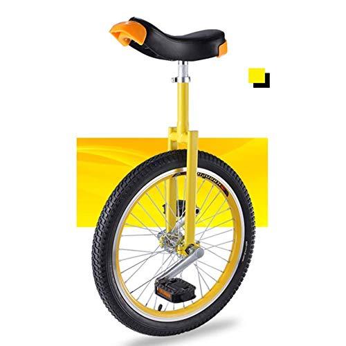 """DFKDGL Starter Einrad für Kinder/Jugendliche/Jugendliche, Höhenverstellbar 18\""""Rad Auslaufsicheres Butylreifenrad Radfahren im Freien Sport, Einfach zu montieren (Farbe, Blau), Rotes Einrad"""