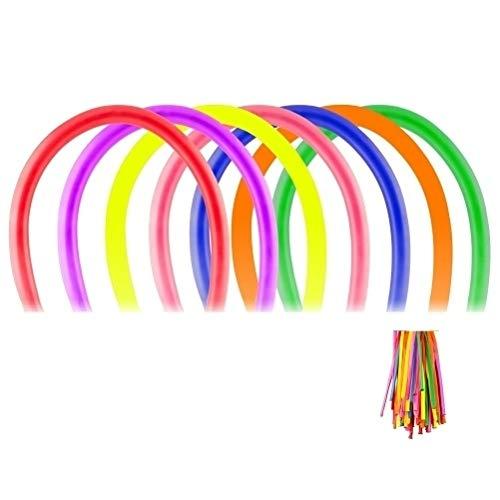 DeliaWinterfel 100er Pack mit einem Sortiment an farbigen Luft- oder Helium Latex-Tiermodell-Partyballons 260Q für Geburtstage, Festliche Anlässe oder Events by