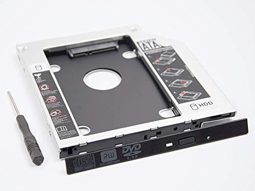 "Universal 2.5"" 12,7mm 2nd BOX Caddy Bay SATA HDD SSD to CD DVD RW BD Blu Ray ROM ODD Hard Disk Drive Adapter Laptop Tray | Aluminio |"