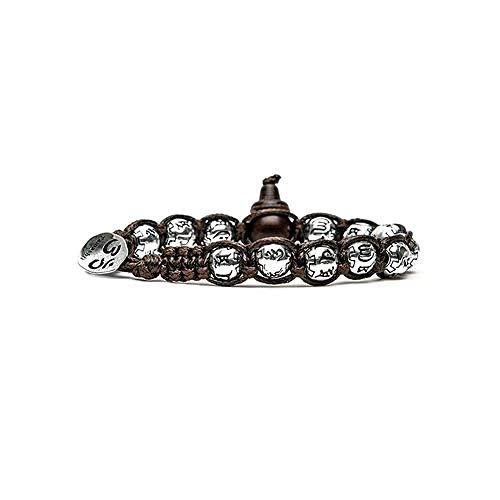 Bracciale Tamashii ruota della preghiera in argento BHS924-S3