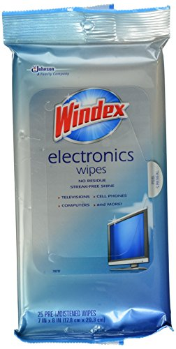Windex Electronics Screen Wipes for Computers, Phones, Televisions and More, 25 Count