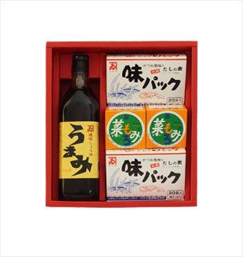 カネイ醤油 うまみ1本・味パック2箱・菜もろみ2箱セット[SA-300]