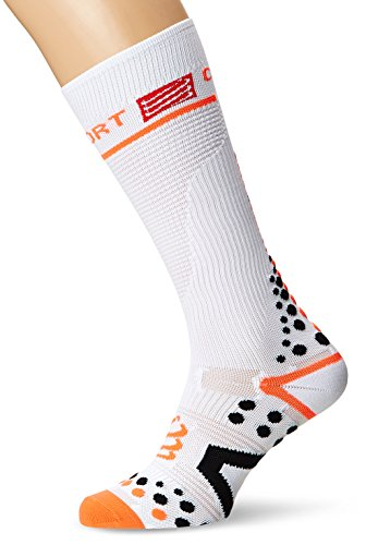 COMPRESSPORT Full Socks V2.1 Chaussettes Mixte Adulte, Blanc, FR : L (Taille Fabricant : 3L)
