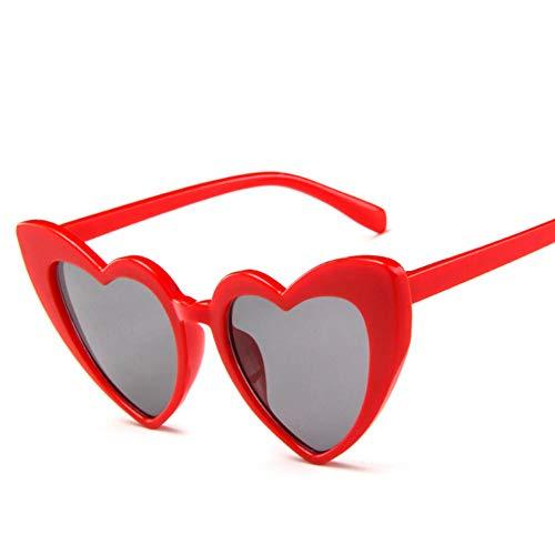 ZYIZEE Gafas de Sol Love Heart Driver Gafas Gafas de Sol Mujeres Marco Grande Personalidad Lindo Retro Ojo de Gato Vintage Gafas de Sol Mujer