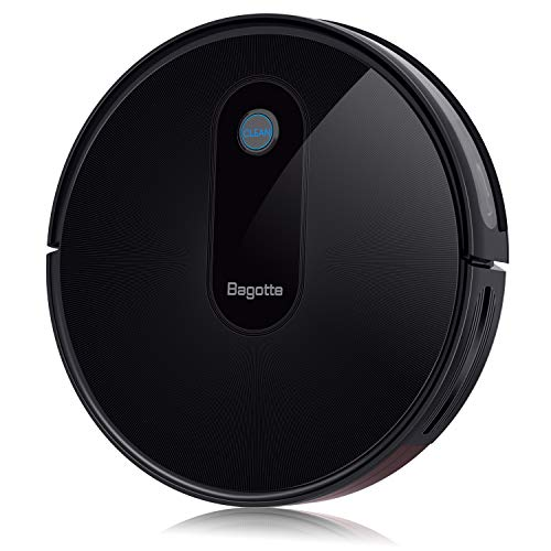 Bagotte Robot Vacuum Cleaner Super Strong Suction, Slim, Quite, Self Charge for Pet Hair, Floor Dining Features Kitchen Robotic Vacuums