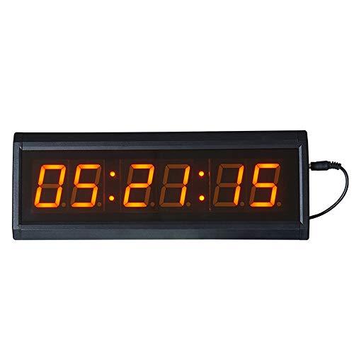 Temporizador de Conteo LED 1.8' Pantalla grande del reloj de pared LED digital inteligente con control de mando a distancia / WiFi a través de Internet y el temporizador de cuenta regresiva Temporizad