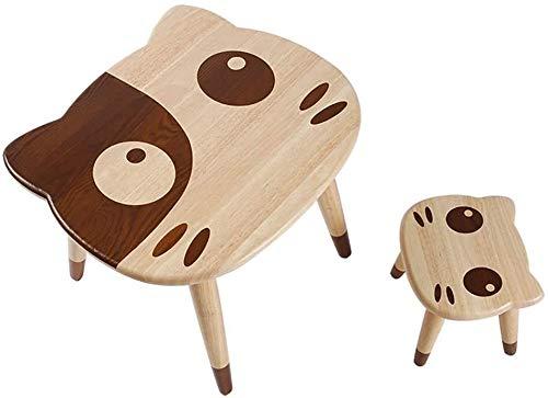 Juego de Escritorio y Silla de Estudio para Niños Tabla de los niños y en la tabla de madera sólida sólido conjunto Silla de madera de los niños y Juego de sillas Toddles dibujos animados Actividad gu