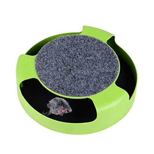 Vesiri 爪とぎ 猫用おもちゃ ネズミスクラッチャー 360回転可能 運動不足改善 寂しさ解消 爪とぎ用パッド