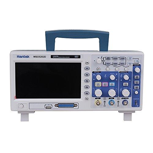 Hantek MSO5202D Oszilloskop Digital Oscilloscope 200MHz 2Channels 1GSa/s & 16Channels Logic Analyzer 2in1 USB,800x480 Logikanalysator