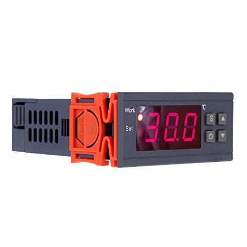 KKmoon Controlador de Temperatura Termostato Digital Relés con Sensor 0~250V 10A ,-50~110 Grado Centígrado para Incubadora,Cocina, Agua Temperatura Control,Enfriador Industrial,Caldera