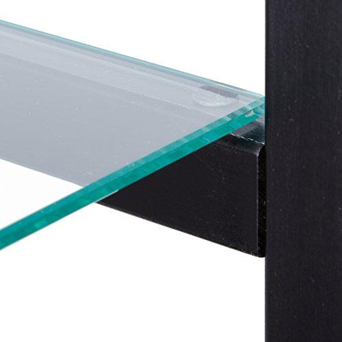 4-Shelf Glass Curio Cabinet Black and Clear