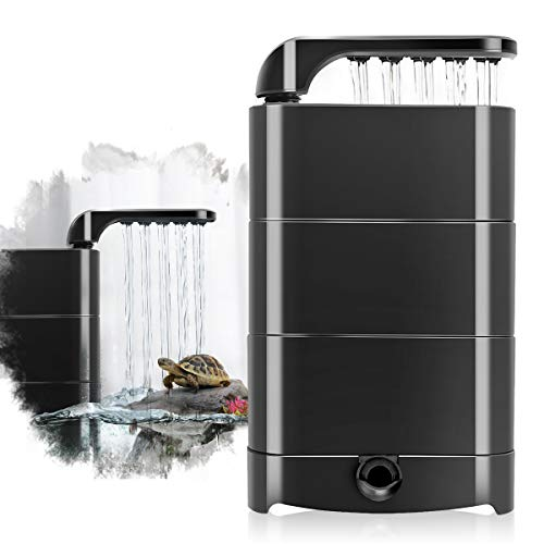 hygger 150GPH Low Water Level Aquarium Filter, Turtle Tank Filter 8W with Filter Sponge Biochemical Ball, Filtration Culture Oxygen Wave Water Change