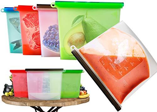 Riutilizzabile per alimenti Realizzato silicone sacchetti tenuta, lavabile ideale per conservare le carni fresche zuppa frutta verdura sigillato versatile borsa può essere conservare 1L