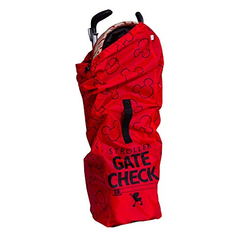 J.L. Childress Disney Baby Gate Check Air Travel Bag for Umbrella Strollers, Red