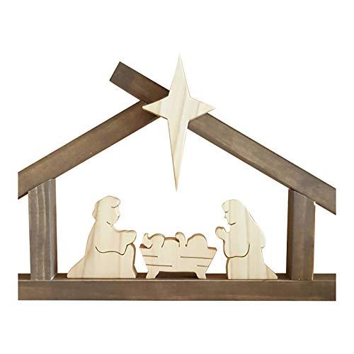 Adornos de madera de Pascua, escena cristiana Jesús Desurrección Artesanía Regalos, para Día de Pascua, Resurrección, fiestas, decoración del hogar