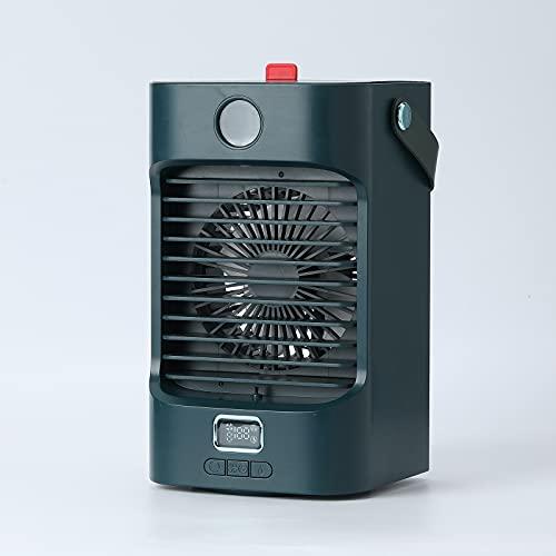 Aire acondicionado portatil silencioso,Nuevo mini ventilador portátil de aire acondicionado de refrigeración de escritorio para el hogar, pequeño ventilador de aire acondicionado (Verde)