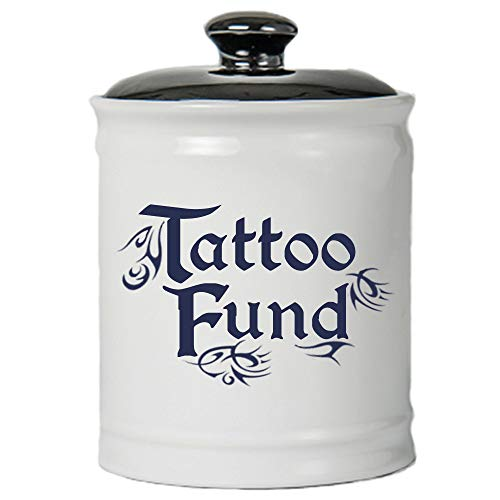 Cottage Creek Tattoo Fund Jar   Tattoo Piggy Bank   Tattoo Ink Coin Bank with Gift Box   Tattoo Artists and Tattoo Lovers Inked Tattoo Gifts