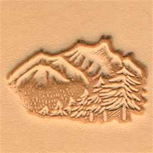 Tandy Leather 3D Mountains and Trees Stamp 88324-00