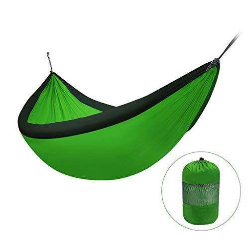 Liudan Balançoire Pliante Hamac de Loisirs Une Personne Double balançoire Parachute Tissu Chaise Suspendue intérieure et extérieure Portant 200 kg de Camping Balançoire extérieure (Color : Green)