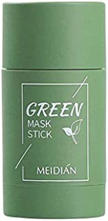 Qisen Gezichtsmasker, Groene thee Purifying Clay Stick Mask, Stick Deep Cleansing Oil Control Anti-Acne Mask, Fine Solid M...