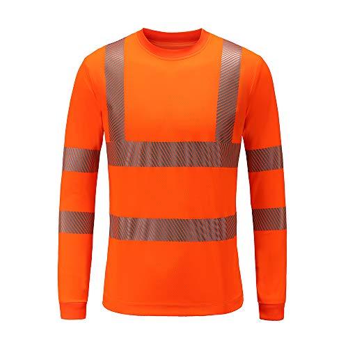 Warnschutz T-Shirt Warnschutzshirt Warnshirt t-Shirt Sicherheitsweste(orange, XL)