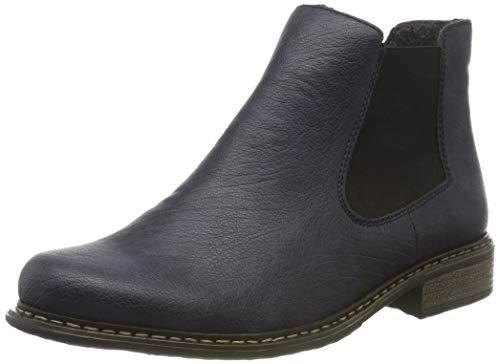 Rieker Damen Z4994-14 Chelsea Boots, Blau (Ozean/Schwarz 14), 39 EU
