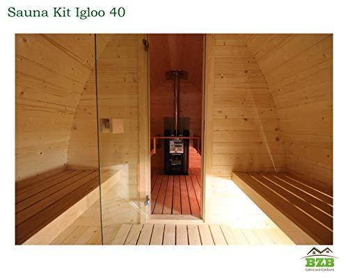 BZBCabins.com Igloo 40 Sauna Barrel