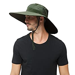 Super Wide Brim Sun Hat-UPF50+ Waterproof Bucket Hat for Fishing,...