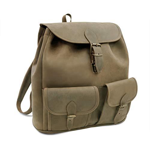Made in Germany Vintage Rucksack - Wanderrucksack Milano aus braunem Leder inkl....