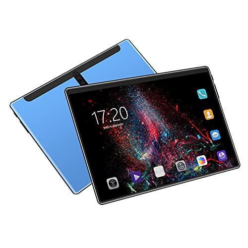 Tableta de 10.1 Pulgadas Android OS 5.1,800 * 1280 Pantalla IPS, 1GB RAM 16GB ROM / 128GB Expand, MTK6592 Octa-Core 1.7-2.0 GHz, GPS, FM, WiFi, Bluetooth para lecciones en línea, Lectura,Azul