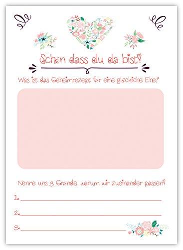 Hochzeitspiel: 52 Postkarten mit spannenden Fragen für Gäste und das Brautpaar - 2